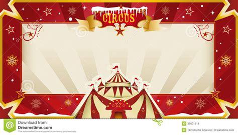 fantastic christmas circus invitation stock photo image