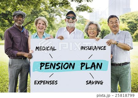 jp pension plan pension plan investment retirement diagram conceptの写真素材