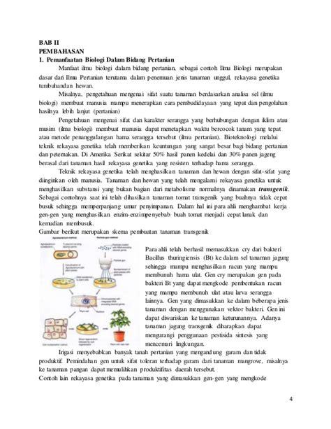 membuat makalah bioteknologi bioteknologi dalam bidang pertanian
