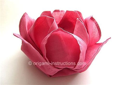 Paper Napkin Flower Folding - lotus napkin folding comments by vera lessa origami