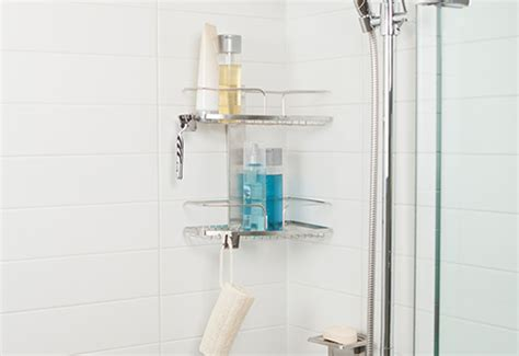 Wall Mounted Shower Caddy by Wall Mount Shower Caddy Sharper Image