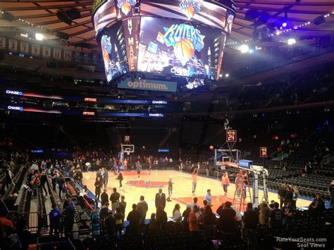 section 110 madison square garden madison square garden section 110 new york knicks