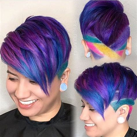 rainbow hairstyles games loving this creative look by pink nouveau hairinspo