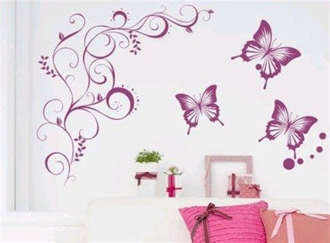 butterfly wall stickers for bedrooms cute butterfly bedroom wall decal mural ideas for teen