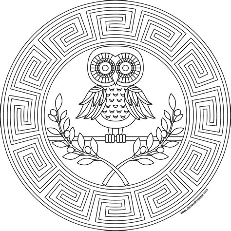 greek key coloring page don t eat the paste athena coloring page