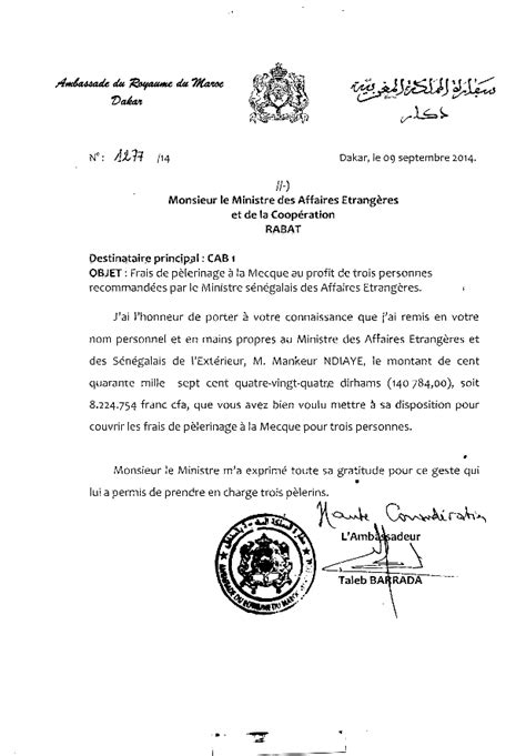 Lettre De Motivation De Visa Touristique apr 232 s le d 233 menti de l ambassade le site marocain revient