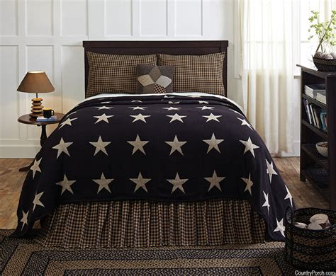 black coverlets black star coverlet