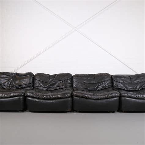 vintage modular leather sofa from dreipunkt international
