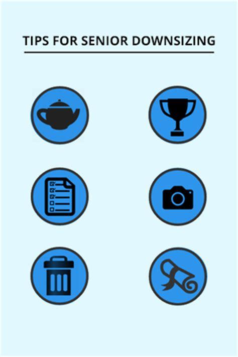 tips for downsizing tips for senior downsizing infographic moves for seniors