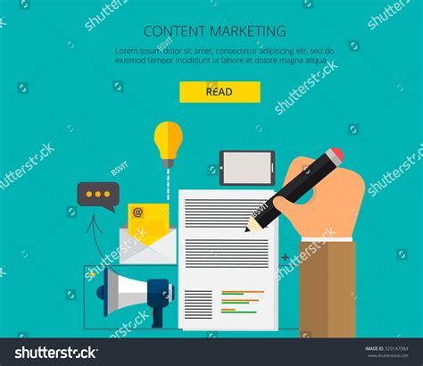 banner content marketingvector digital marketing concept
