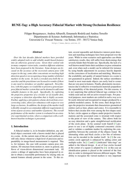 cvpr 2011 papers on the web computer vision resource rune tag a high accuracy fiducial marker pdf download