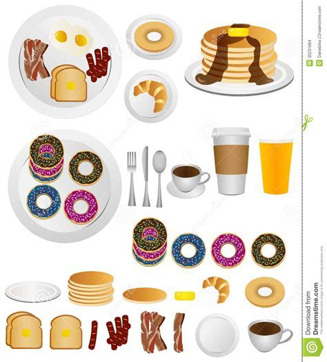 Breakfast Icons Stock Images   Image: 35231684