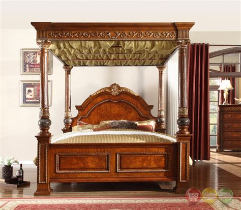 royale poster canopy bedroom furniture with marble accents kamella bedroom free shipping shopfactorydirect com