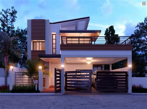 Triplex Plans by Duplex Contemporary House With A Terrace Amazing