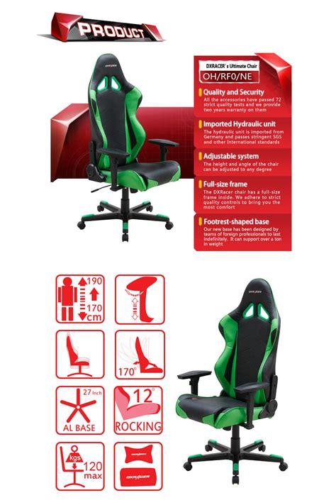 Dxracer Origin Series Ohoc168ne Black Green dxracer r series pc office gaming chair black green dxr rf0 gn pc gear
