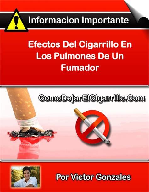 efectos del cigarrillo efectos del cigarrillo en los pulmones de un fumador