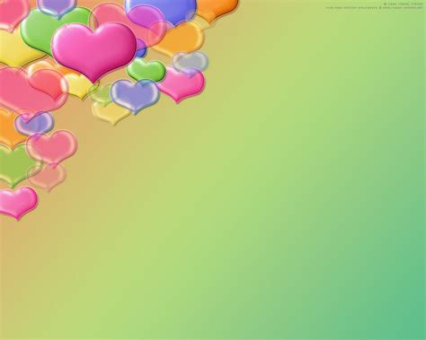 love colorful hearts flying backgrounds presnetation ppt