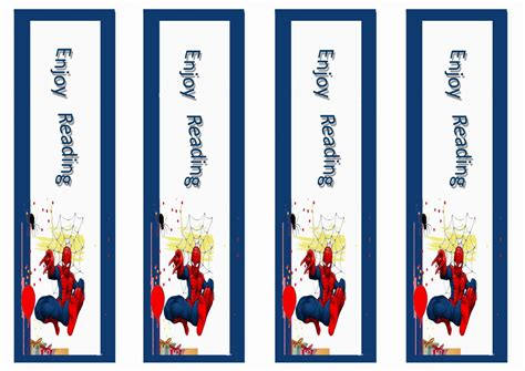 printable name bookmarks spiderman bookmarks birthday printable