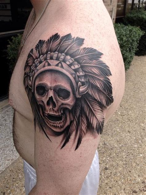 skull headdress tattoo david mushaney s designs tattoonow
