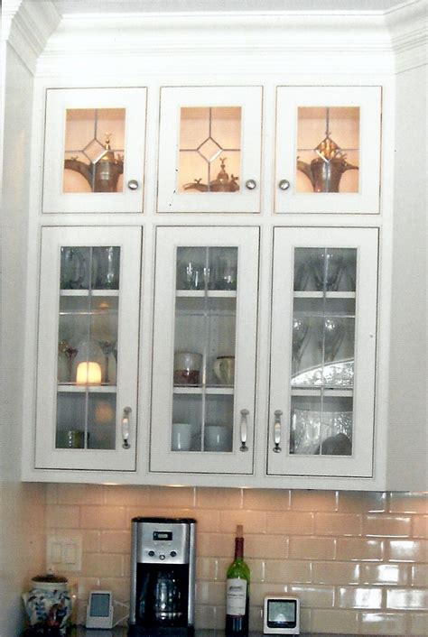 glass inserts for kitchen cabinets leaded glass doors beautiful pair of vintage leaded