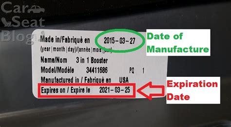 seat date car seat expiration date
