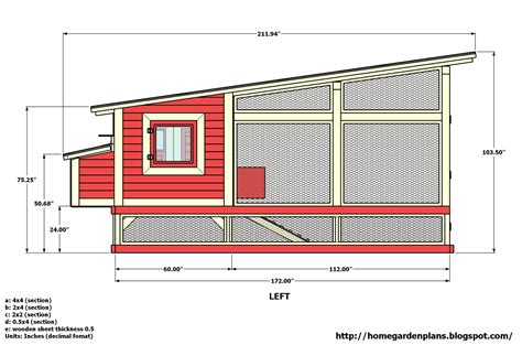 How To Build Chicken Coop Floor Plan For Build Chicken Coop Chicken House Blueprints Free