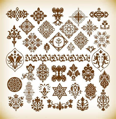 vector pattern elements decorative pattern elements vector collection free