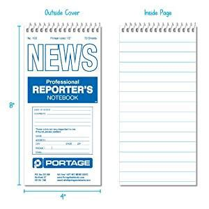 Reporters Notebook Template by Portage Reporters Notebook 4 Quot X 8 Quot Wide Ruled Steno Notepads Office Products