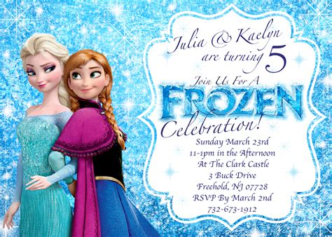 disney frozen birthday invitations printable frozen invitations disney s frozen winter birthday invitation printable or let s
