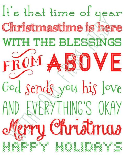 nsync inspired merry christmas happy holidays  printable  withlovefromrigby