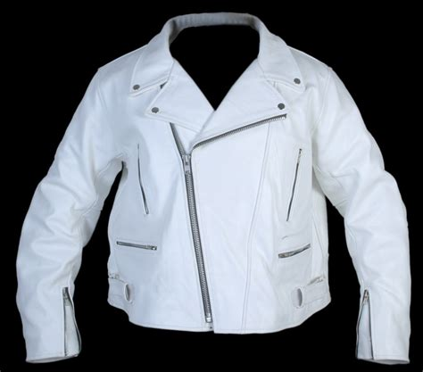 Arrow Mens White Leather Motorcycle Jacket Style Aw656789