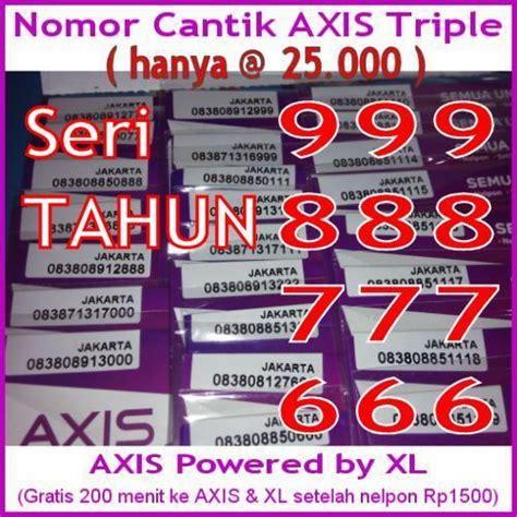 jual nomor perdana cantik axis xl dobel unik hoky