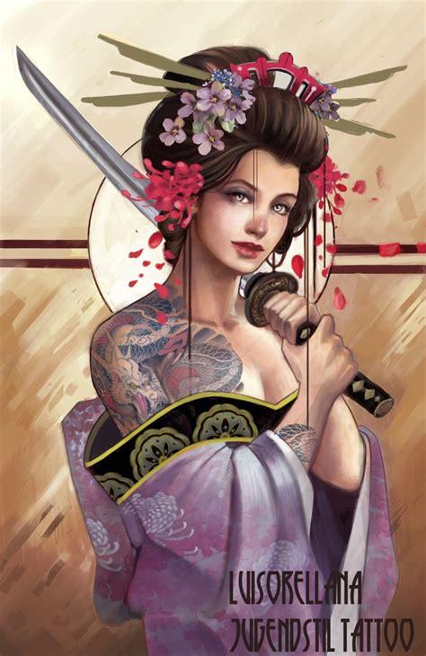 tattoo geisha katana 154 best images about geisha on pinterest