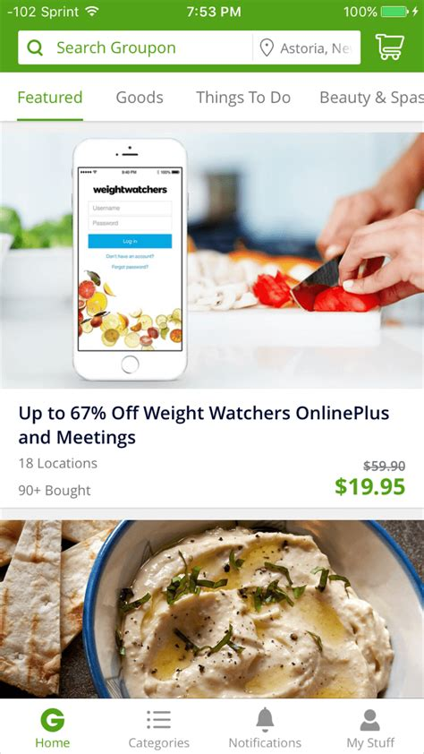 groupon mobile app groupon iphone shopping app review