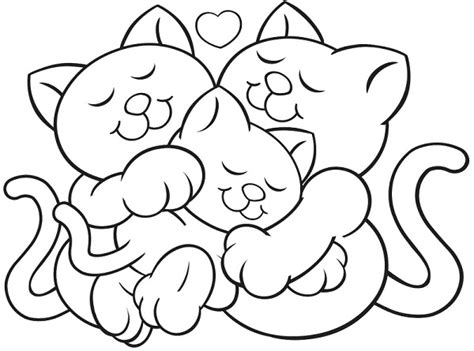 kitten valentine coloring page free cat valentine ariana coloring pages