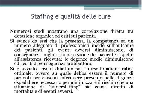 processi ed esiti dell assistenza per i pazienti con metodi di determinazione del fabbisogno di personale