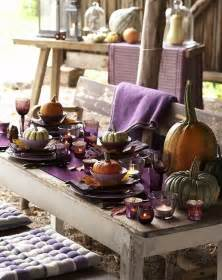 Rustic styled outdoor thanksgiving table idea