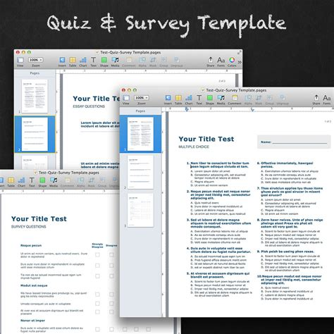 quiz templates for pages quiz and survey template for apple pages mactemplates com