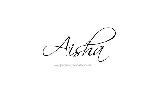 aisha name tattoo designs