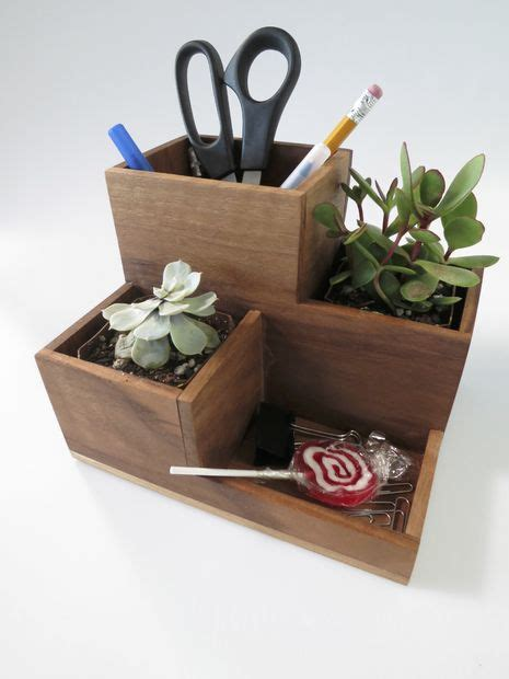 desk planter desktop organizer and succulent planter supplies