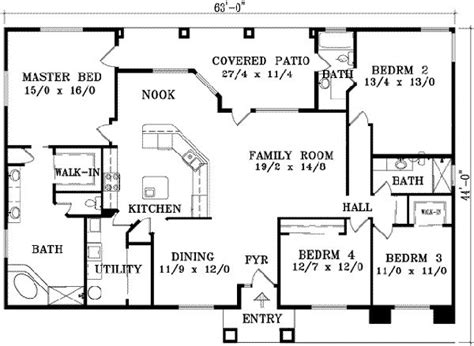 single story house plans without garage 2129 square 3 bedrooms 3 batrooms 3 parking space