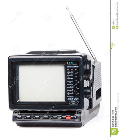 Tv Radio handheld radio and television set isolated stock image image of isolated retro 46628757