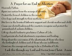 prayer template 40 days for life bridgeport