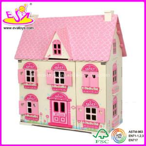 dolls house china china wooden doll house with 4 set furniture toy w08g058 china