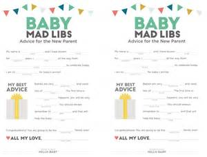 baby shower mad libs template baby shower printables