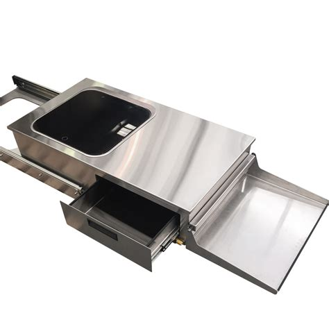 sink pull out caravan pull out bbq and sink metaltex australia