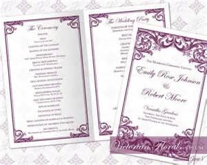 diy wedding programs templates free diy printable wedding ceremony program template 2335524