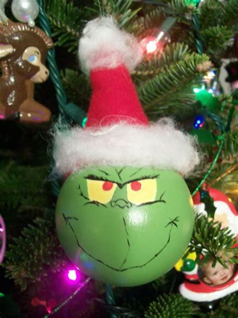 grinch christmas ornament craftsterorg crafted