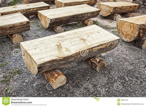 how to make a log bench primitive log benches stock image image of primitive