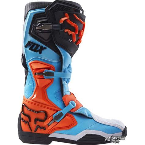 motocross boots 8 fox racing comp 8 aqua orange ktm motocross boots enduro